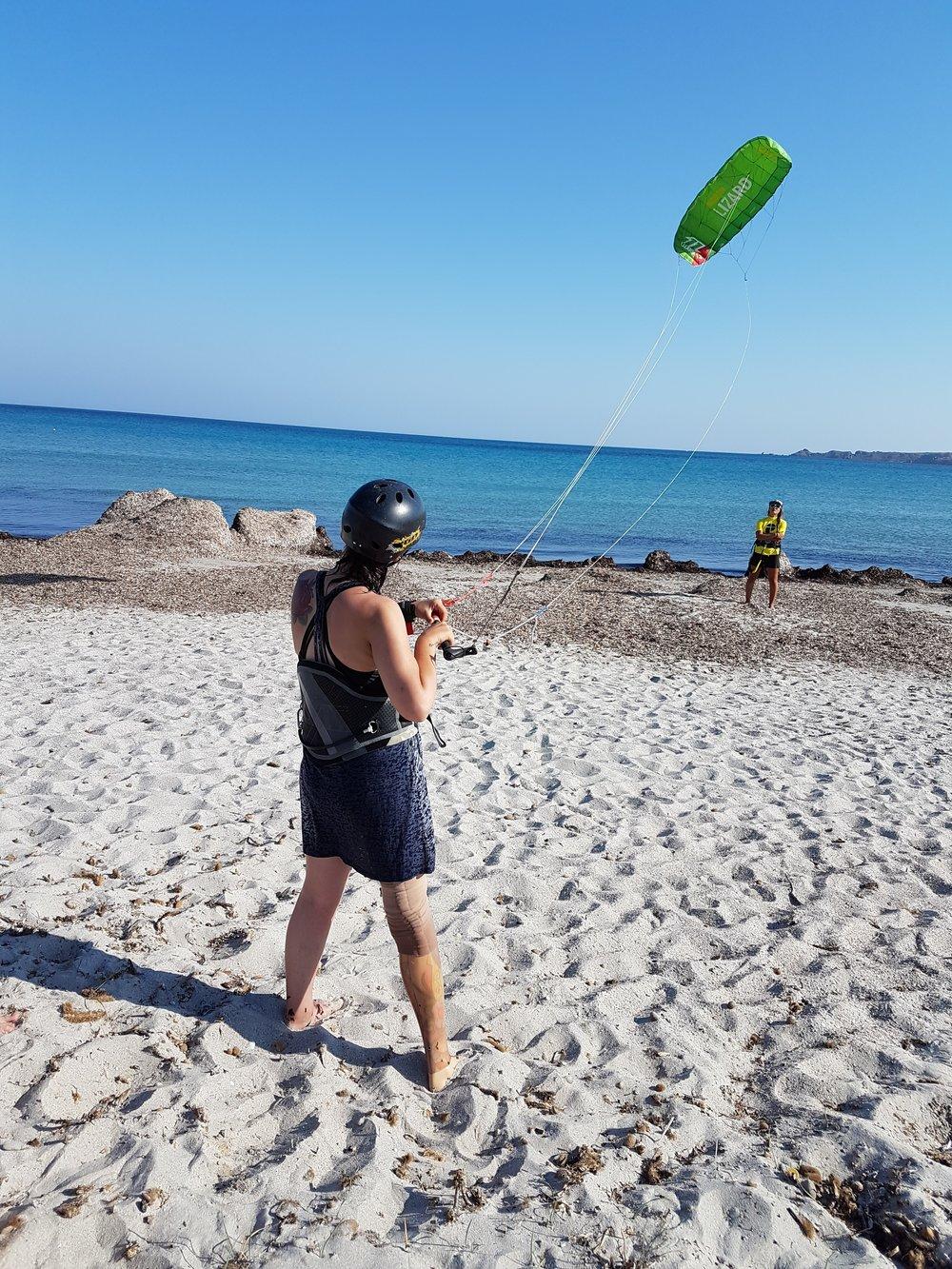 Lou Flying The Power Kite - Level 1
