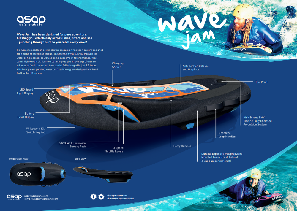 Portable Electric ASAP Wave Jam - Price £4549.00 - Delivery Begin March - Reserve With a Deposit NOW