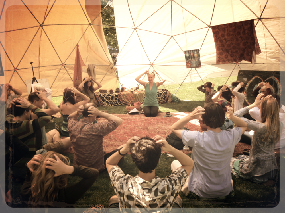 """""""Introduction to Meridian Tapping"""" Workshop, Whole Earth Festival, Davis, CA"""