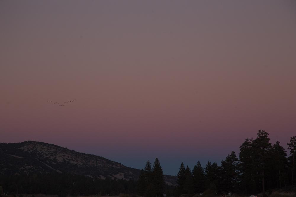 That magical moment just before nightfall at Big Bear Lake, California