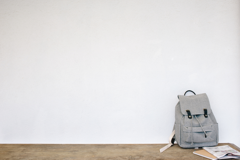 Spend your days alternating between reading, writing, swimming, napping. Backpack:  Everlane