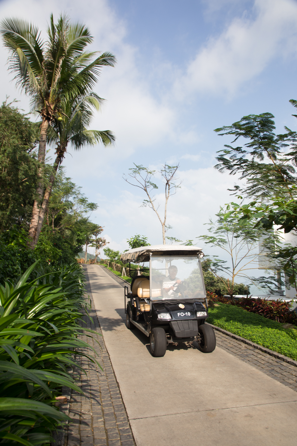 Whisk around the expansive property on golf carts