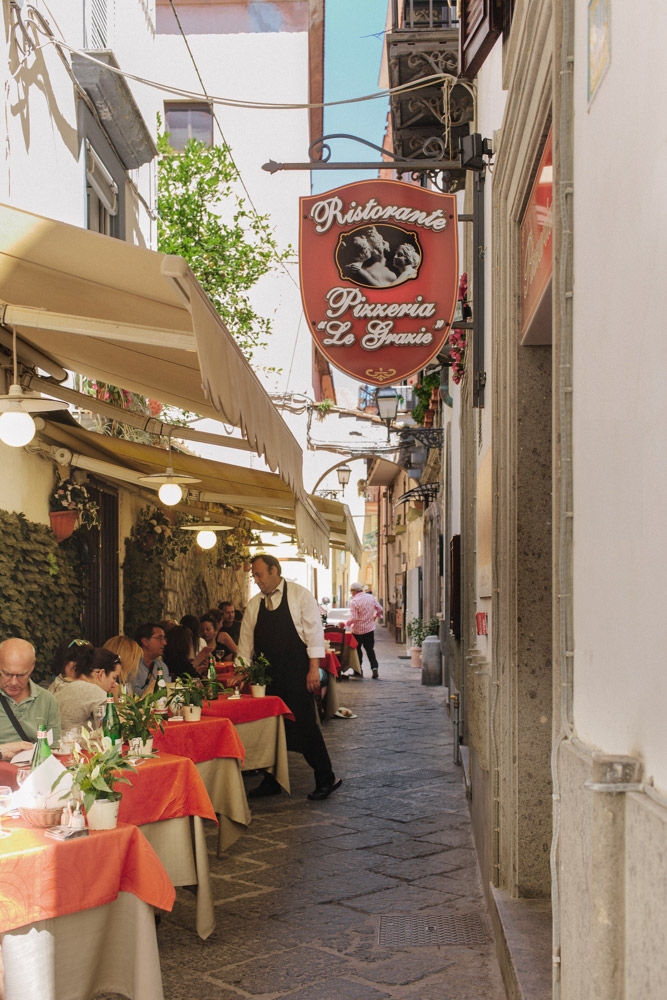 No shortage of charming restaurants hidden in narrow alleyways in Sorrento