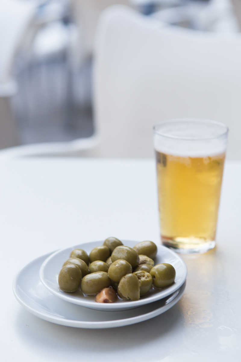 Olives are always served when before the tapas arrive