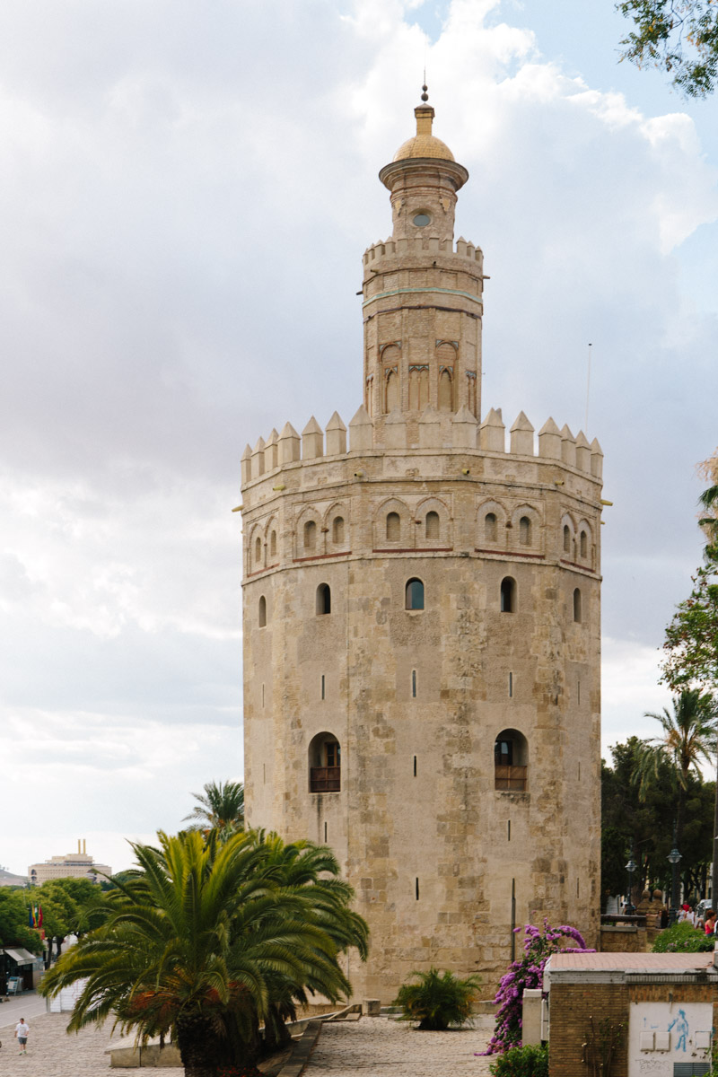 The Torre del Oro, a historic military watchtower by the Guadalquivir River