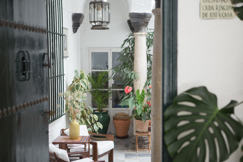 Stepping into the interior courtyard, the main common area of La Casa Grande