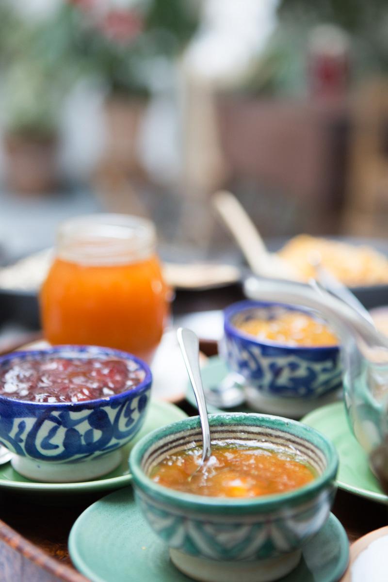 An assortment of breakfast jams