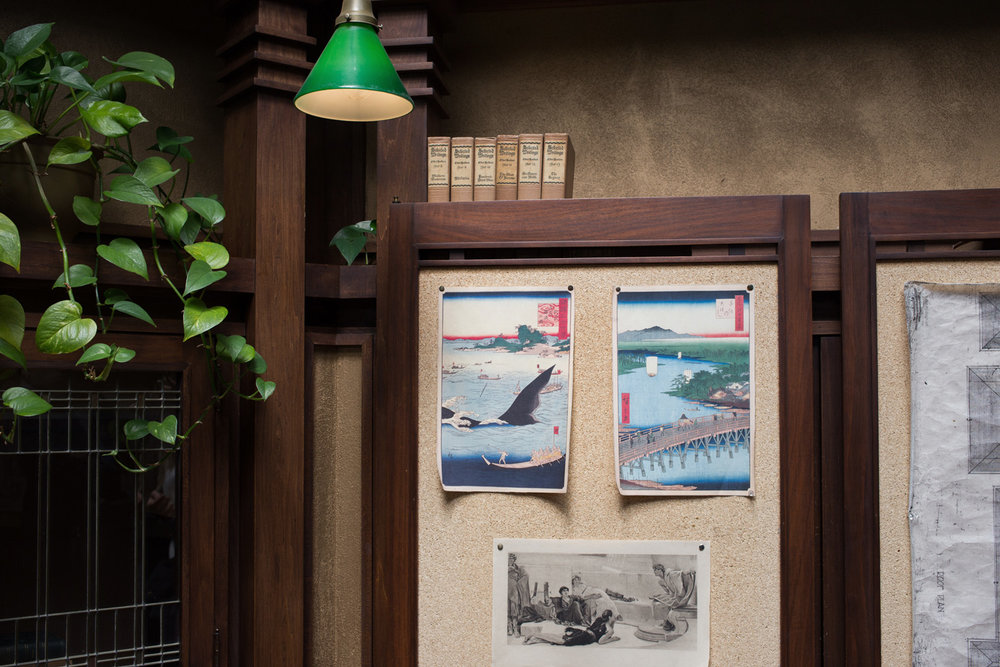 FLW was a fan of Japanese prints, many of which were displayed in the studio area.