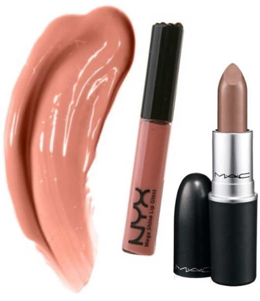 NYX Natural Mega Shine and MAC Lipstick Fresh Brew