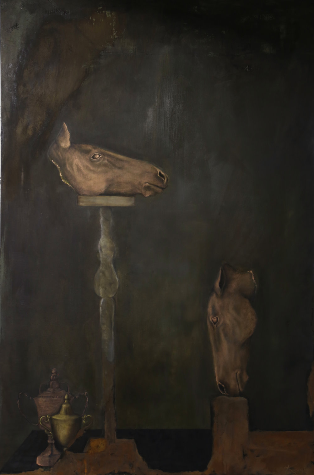 Intrinsic Nature - oil & iron on canvas 130cm x 195cm