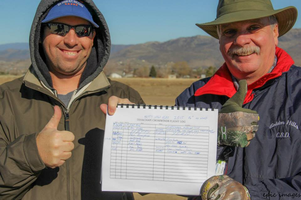 Kent Beal and Bill Fisher enjoyed the first flight of 2015.  They took off simultaneously at 12:15AM to claim first flight of the year together.  And they roughed the 16°F, perfectly calm night to do it.
