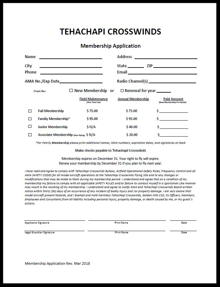 Then, print & fill out the Membership Application.