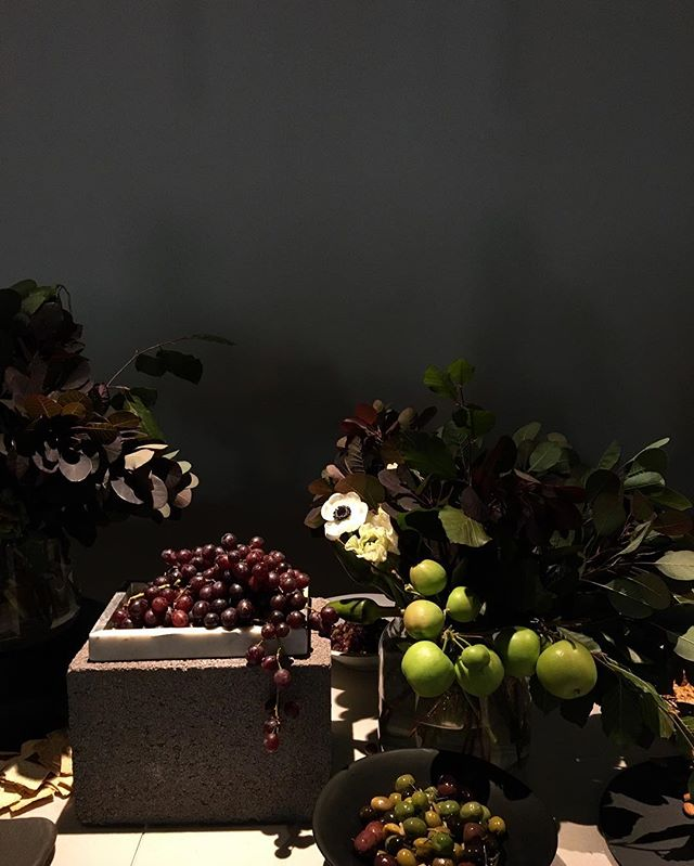 Our table last night at @woodsbagot; moody tones and richness playing shadows in the dark/light