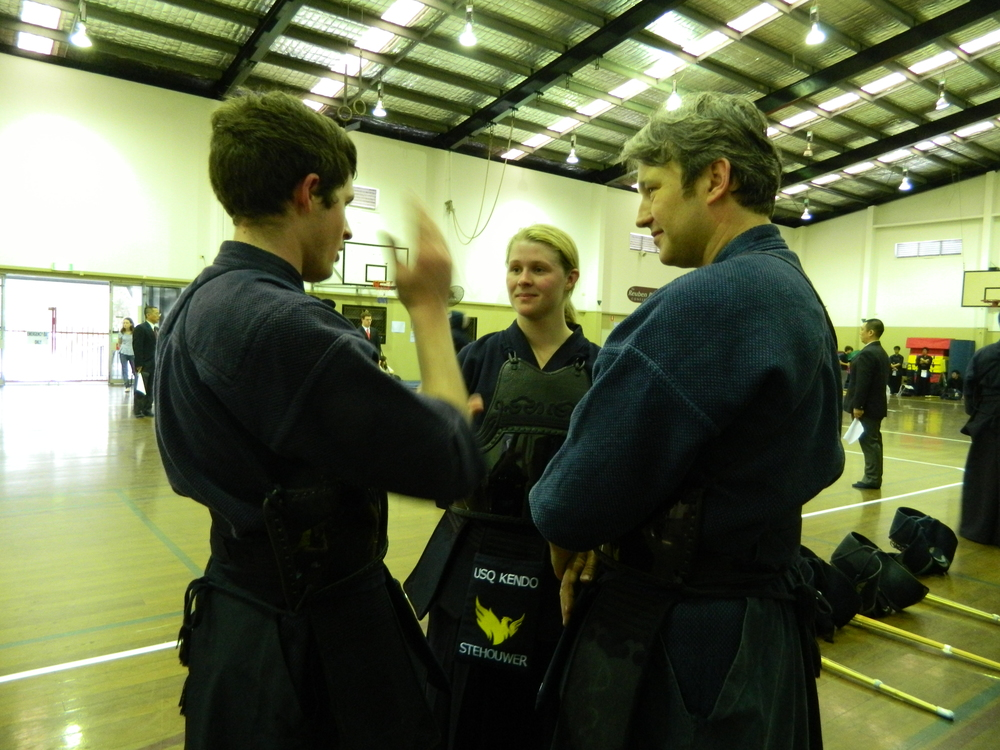 Discussing team tactics —  Kendo  at AUG 2013,
