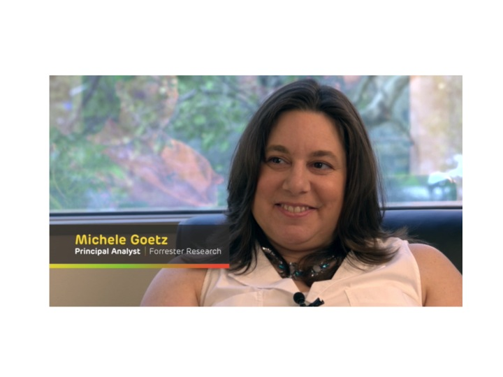 "Watch the conversation with Michele Goetz, Principal Analyst Forrester Research on ""Agile Businesses and the Future of Data Management"""