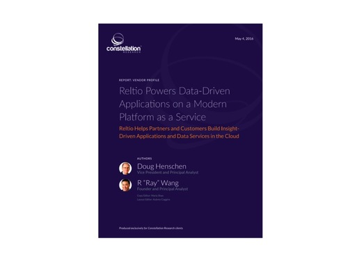 Reltio Powers Data-driven Apps with a Modern PaaS