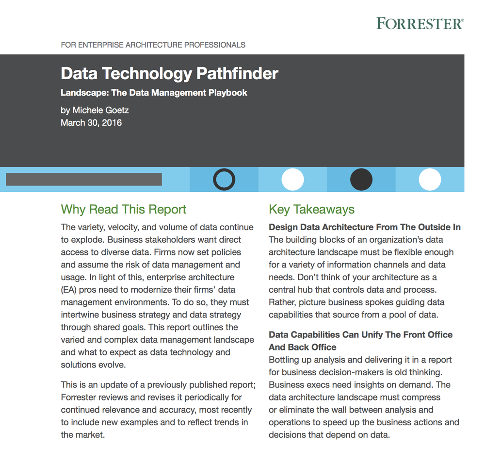 Forrester Data Technology Pathfinder
