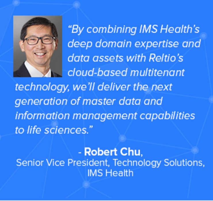 Robert Chu SVP Technology Solutions IMS Health on the Reltio partnership