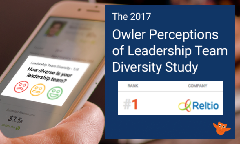 Reltio ranked  #1 in Leadership Team Diversity  of all public and private companies in America