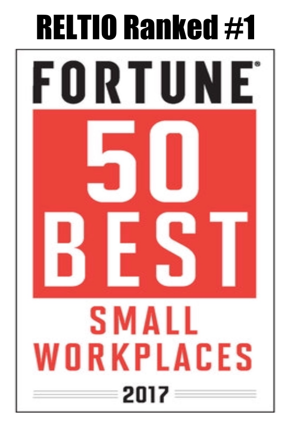 Reltio Ranked Number 1 Best Places to Work Fortune