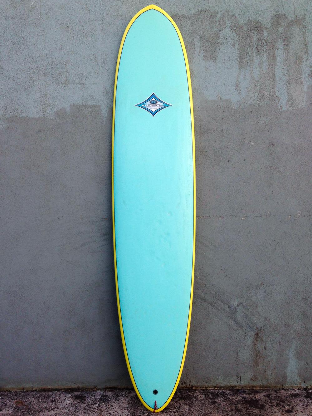 9'0 Blue Yellow Mel Longboard