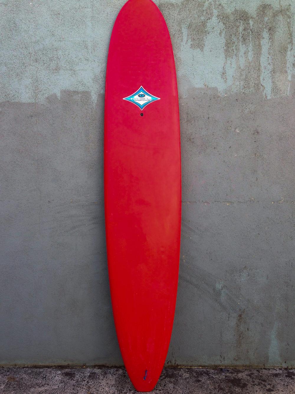 9'0 Red Mel Longboard