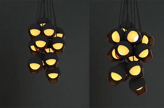 Dusk pendants by Edward Linacre