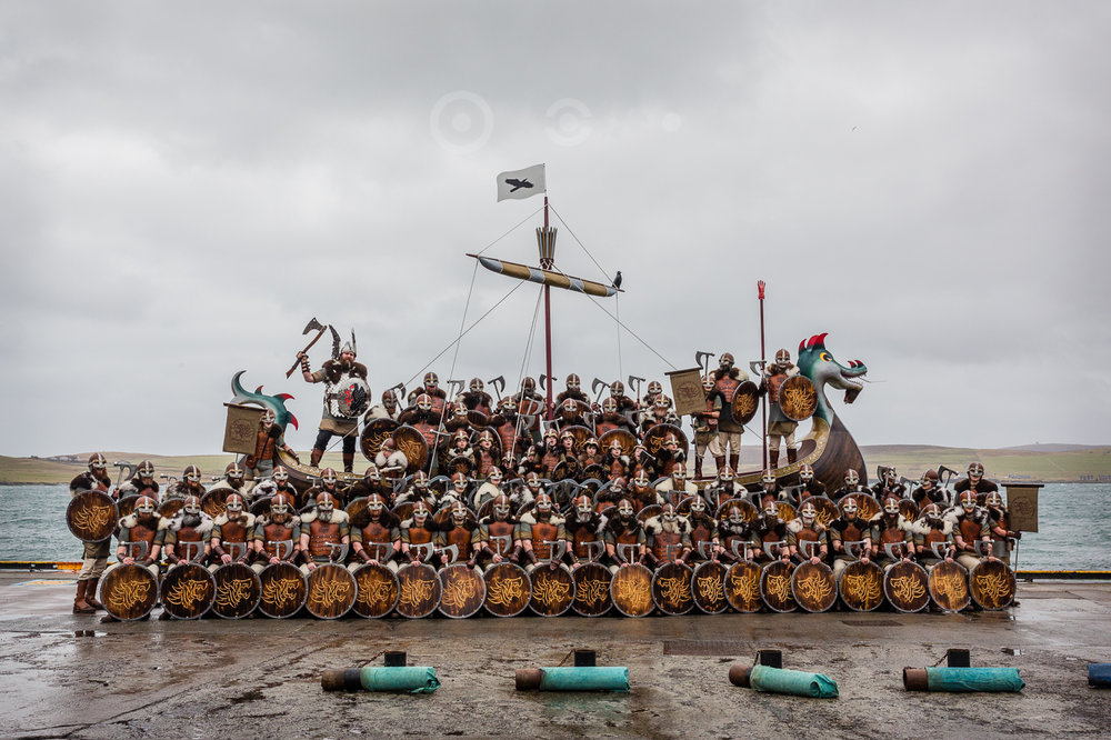 The Jarl's Squad assembled on the galley after the morning procession.