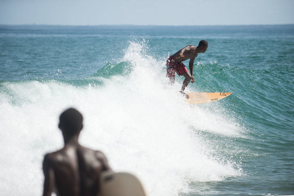 Former Liberian national surf champion Benjamin McCrumada. Photo: Magnus Endal
