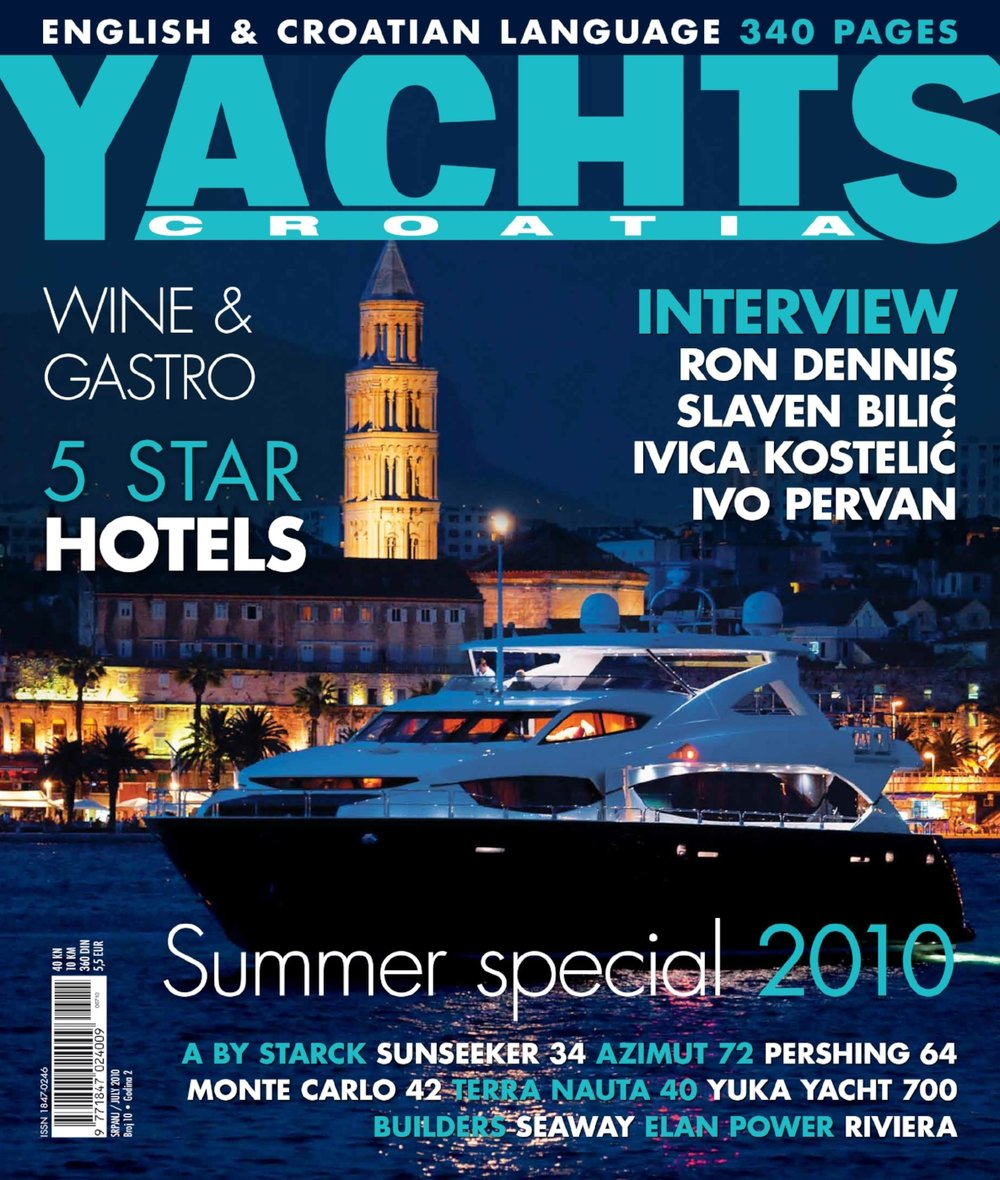 Front page of the Yacht Croatia magazine
