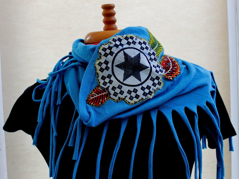 AFRORETRO UpCycle a Tee into a circular scarf
