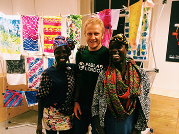 Lilly, Ande and Anna at FabLab London