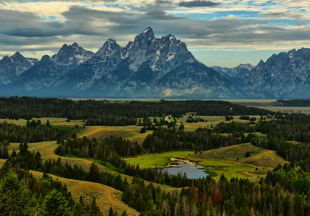 Thermokarst at Jackson Hole Valley, Teton National Park, Wyoming, USA