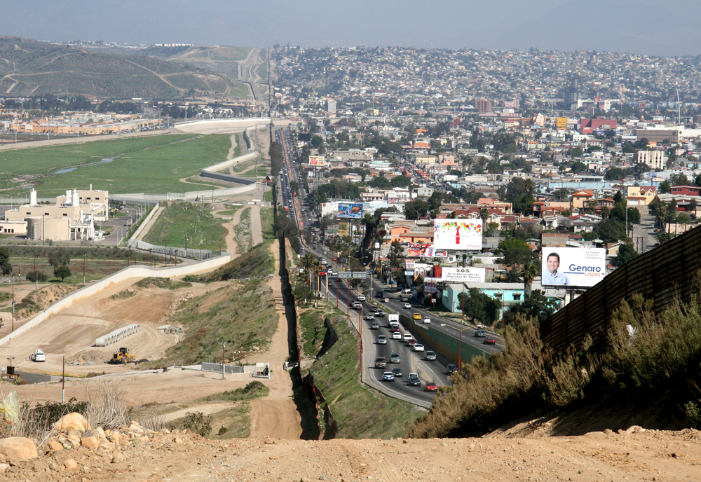 Left: San Diego area, USA. Right: Tijuana, Mexico.