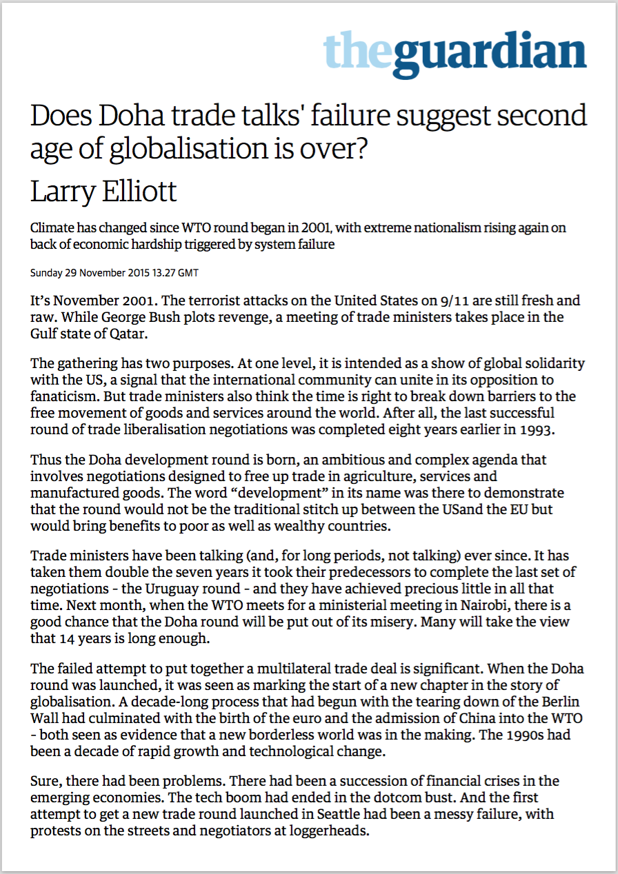 political outcomes com the second age of globalisation is over