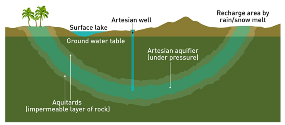 The functioning and management of artesian basins and aquifers