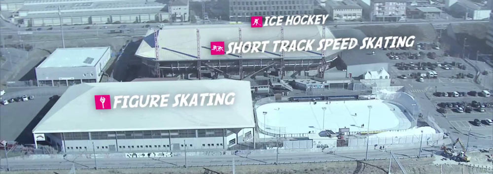 The ice sports venues