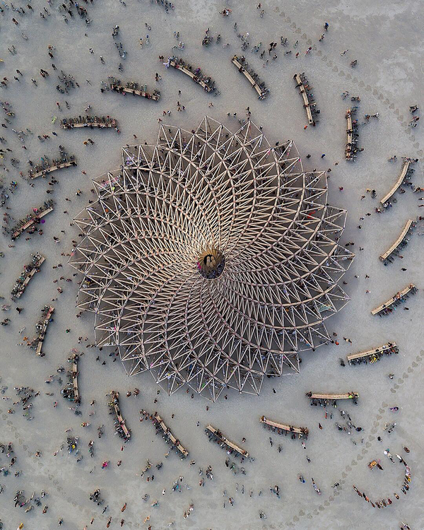 Burning Man festival is an annual event in the western United States at Black Rock City – a temporary city erected in the Black Rock Desert of northwest Nevada