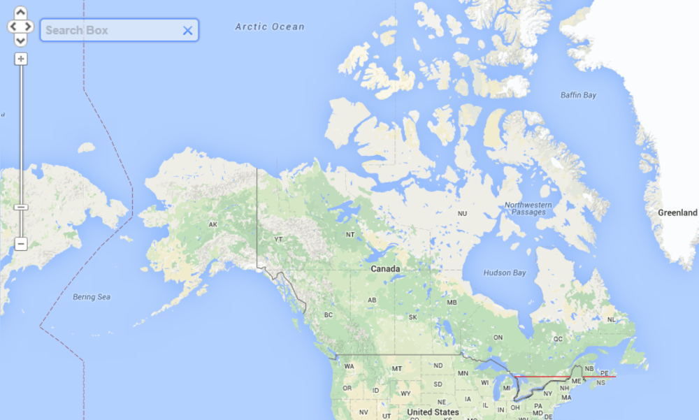 half of canada lives below red line population distribution density.png