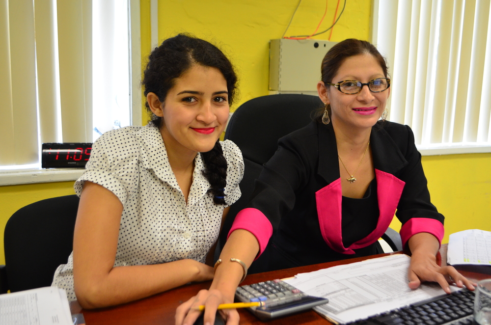 Itzel Granados with Rubicela Peña at the Agriculture Department