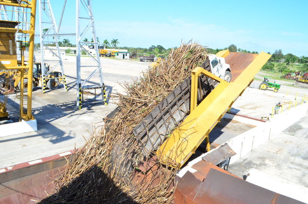 Cane Truck unloading via Dumper Table at the Cane Yard
