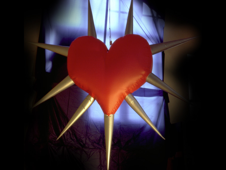 Spiked Hearts  | 240cm Height | £60.00  Winged Hearts (cherubic)  | 150cm Height | £50.00  Plain Hearts  | 120cm Height | £40.00