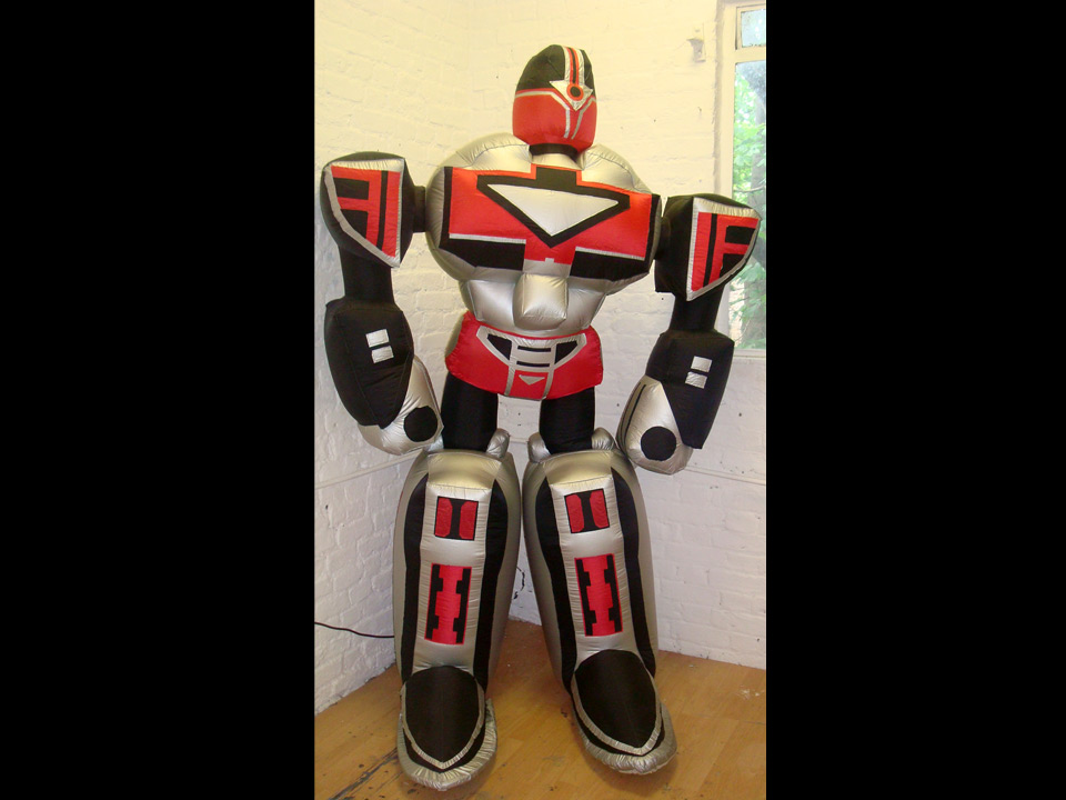 Robot  Based on a Transformer, this one often accompanies his Teddybear friend. 240cm Height                     £90.00