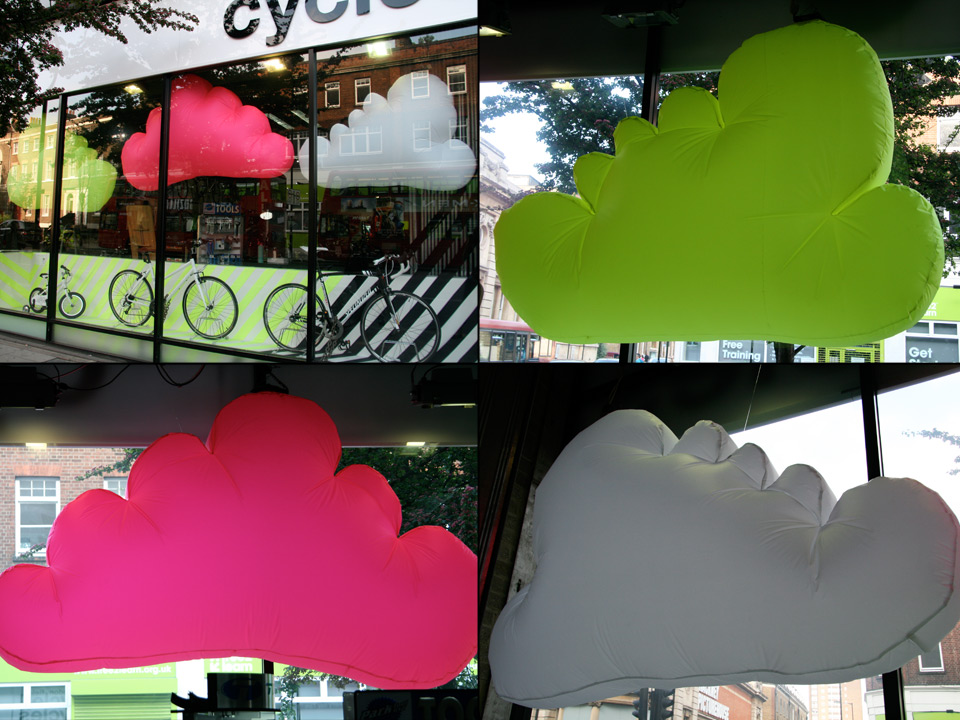 Clouds (set of 3)  250cm Length x 150cm Height £200.00