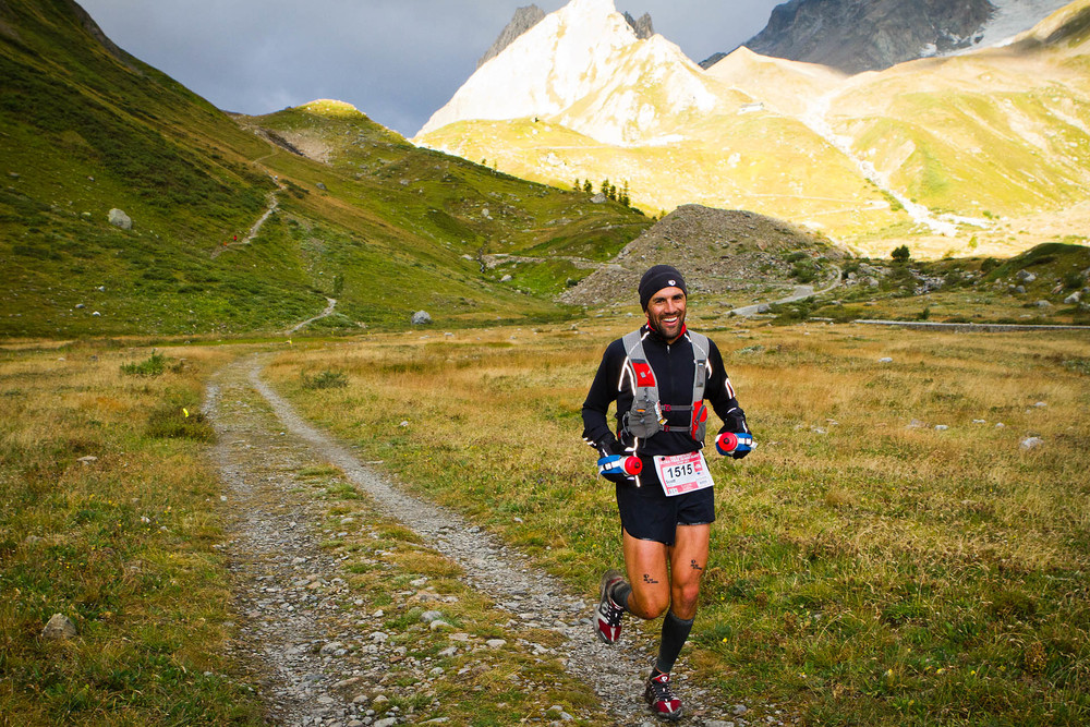 Scott at UTMB. This must be his happy place.
