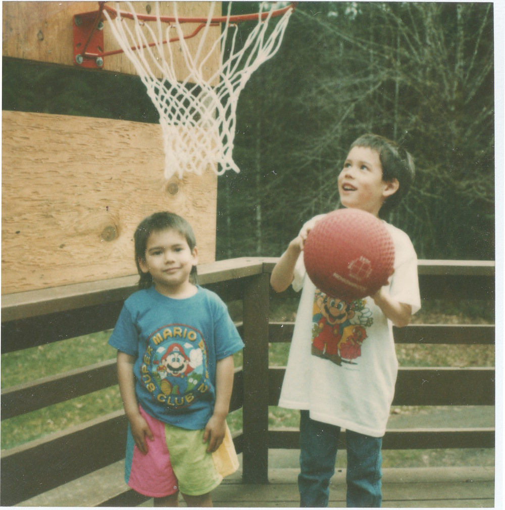 A young Sage & his brother playing ball... I assume Sage lost this game.