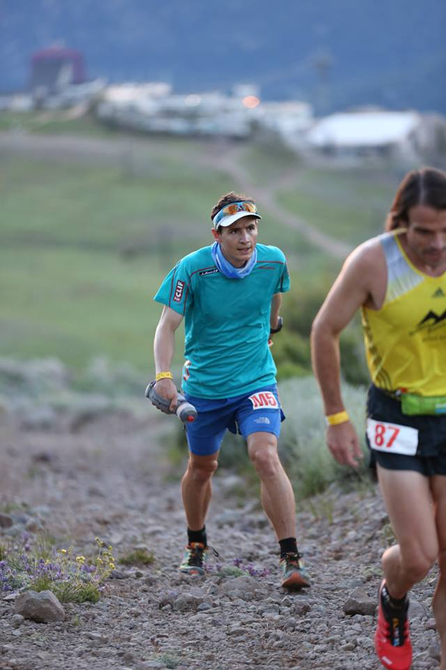 Ian wearing Clif Bar proud on his sleeve.