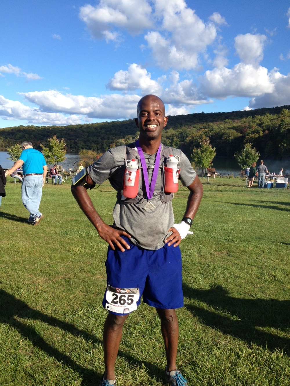 Here's Rudy after he crushed the NJ Trails' Mountain Madness 50K!