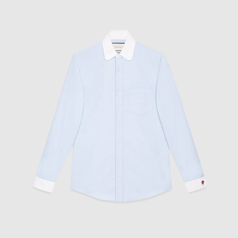 GUCCI Cotton shirt with embroidery $590