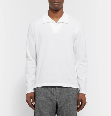CAMOSHITA Slim - Fit Cotton Blend Pique Polo Shirt $199.50